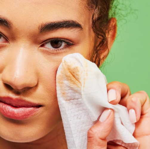 using makeup wipes